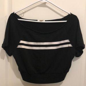 🌻3/$20🌻 Garage black crop with white stripes